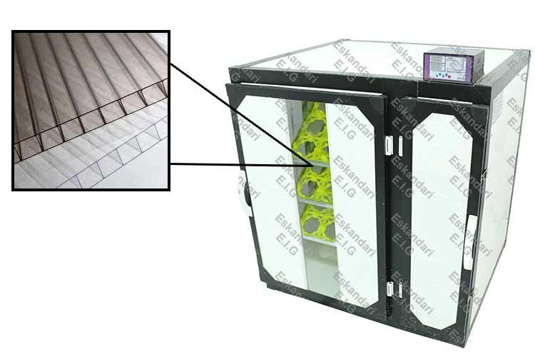 طلق پلی کربنات دستگاه جوجه کشی تخصصی شترمرغ