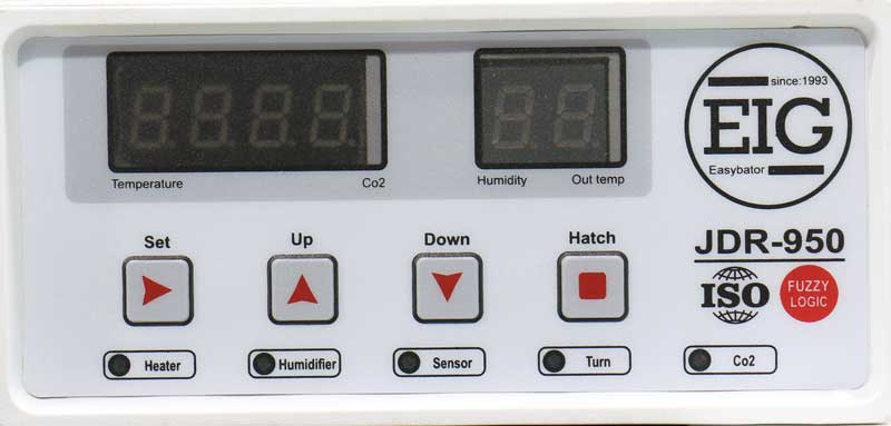 کنترلر پیشرفته JDR950 در دستگاه جوجه کشی 126 تایی