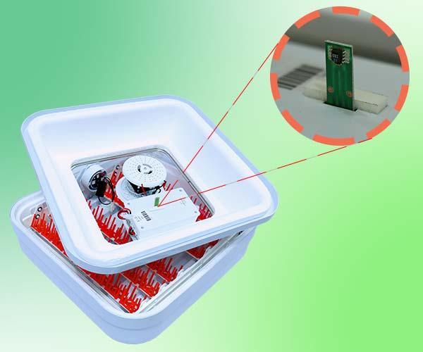 استفاده از سنسور SHT ساخت سوئیس در دستگاه جوجه کشی 48 تایی