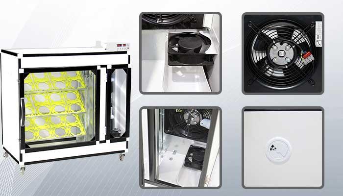 سیستم رطوبت گیر پیشرفته دستگاه جوجه کشی شترمرغی 64 تایی