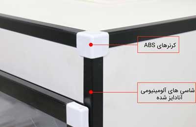 شاسی های آلومینیومی آنادایز شده به همراه کرنرهای ABS