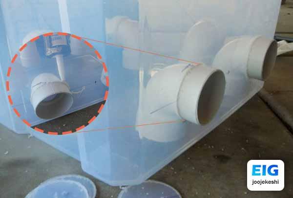 طرز ساخت دانخوری با سطل برای مرغ